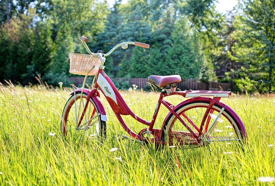 велосипед в траве